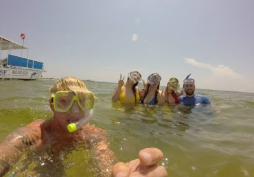 Snorkeling around Pensacola Beach!