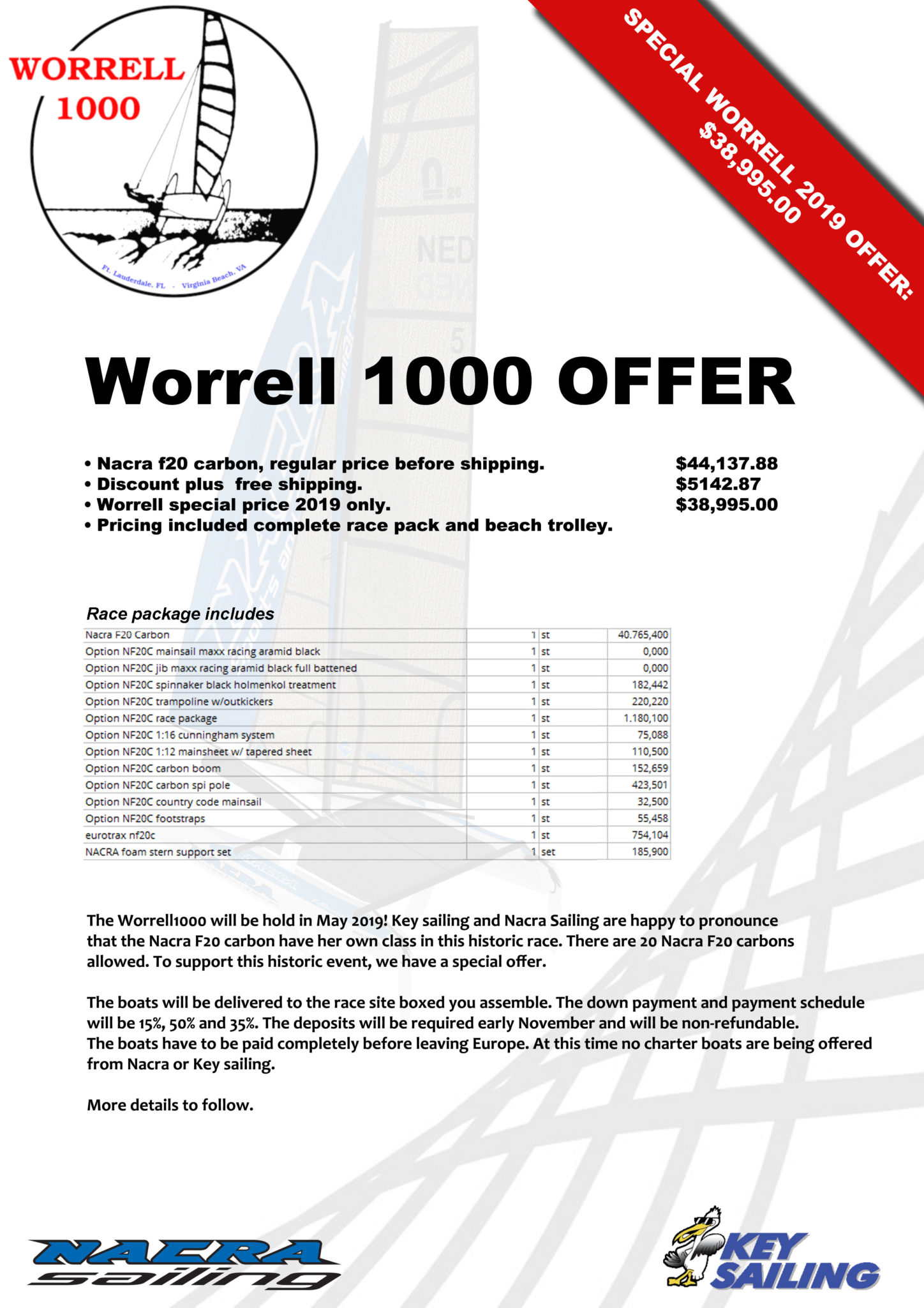 Nacra F20 Carbon Special Offer Flyer